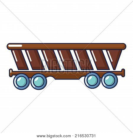 Freight car icon. Cartoon illustration of freight car vector icon for web