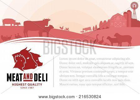 Vector Butchery Illustration