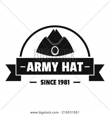 Army hat logo. Simple illustration of army hat vector logo for web