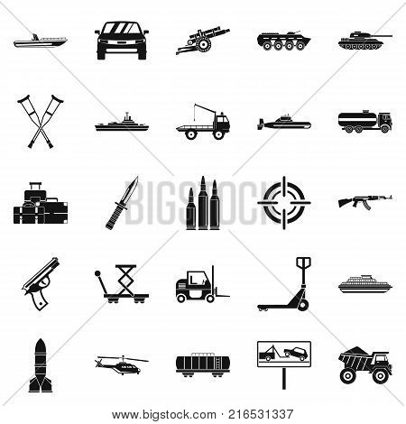 War burden icons set. Simple set of 25 war burden vector icons for web isolated on white background