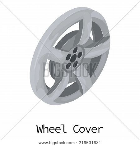 Wheel cover icon. Isometric illustration of wheel cover vector icon for web