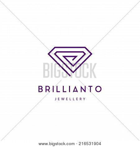 Jewelry company logotype. Jewelry icon. Diamond sign vector illustration