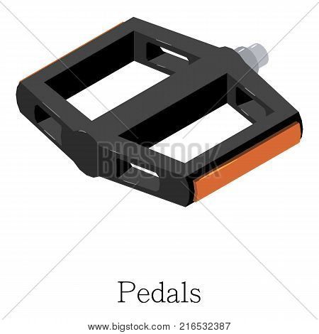 Pedal bike icon. Isometric illustration of pedal bike vector icon for web