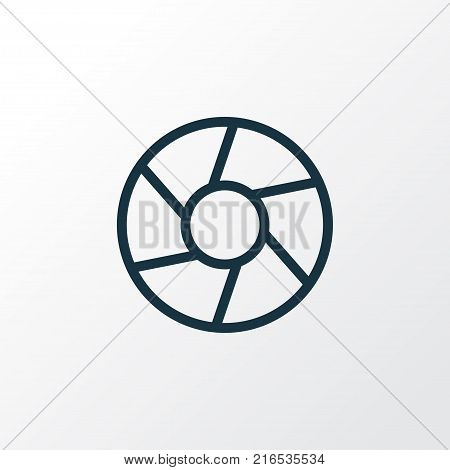 Focus icon line symbol. Premium quality isolated shutter element in trendy style.