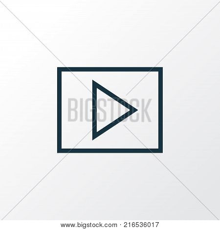 Multimedia icon line symbol. Premium quality isolated slideshow element in trendy style.