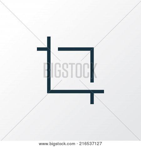 Center focus icon line symbol. Premium quality isolated capture element in trendy style.