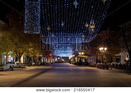 New Year light decoration and adornment on the streets