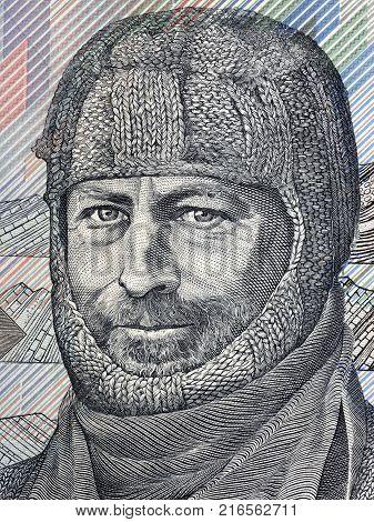 Douglas Mawson portrait from Australian money - Dollars