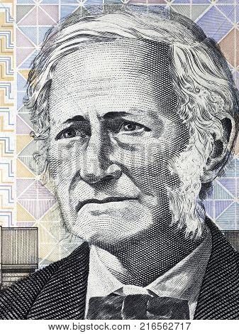 John Tebbutt portrait from Australian money - Dollars