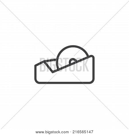 Adhesive tape line icon, outline vector sign, linear style pictogram isolated on white. Symbol, logo illustration. Editable stroke