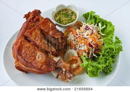 Deep fried pork leg
