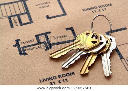 House Keys On Floor Plans