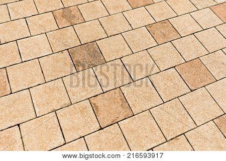 Concrete paver block floor pattern