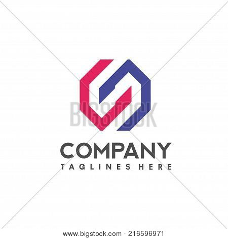 Letter S logo icon design template elements. Logo initial letter S.Business corporate letter S logo design vector. Simple and clean flat design of letter S logo vector template.