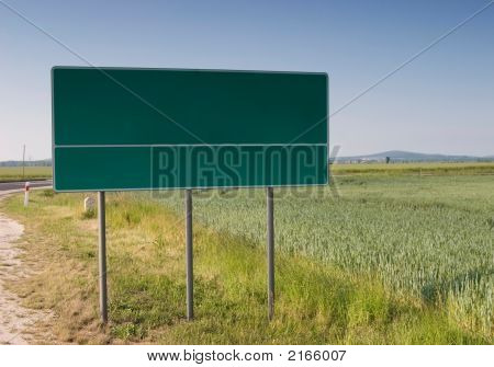 Chose Your Way Billboard In Field Near Road Read For...