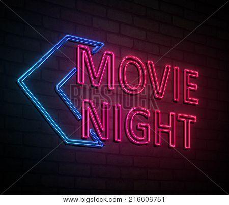 Movie Night Concept.