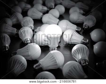 Led Light Bulbs With Glowing One