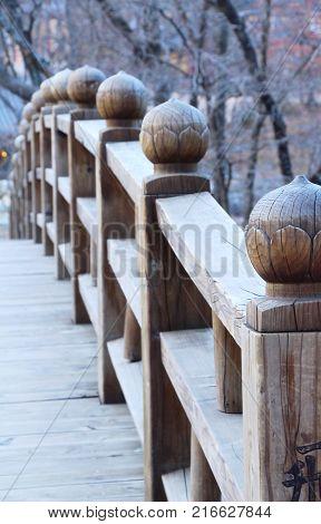 Wooden bridge in the Seoraksan national park