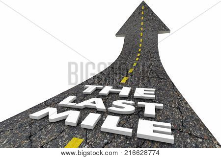The Last Mile Road Final Stretch End Race Driving 3d Illustration