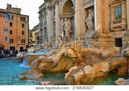 Trevi Fountain, Rome. Italy