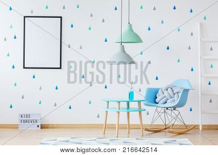 Kid's Room With Pastel Lamps