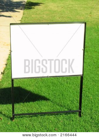 Blank Yard Sign For Sale Or Rent