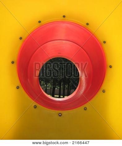 Orange Tunnel At Playground