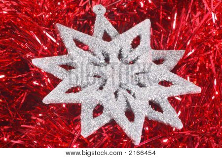 Snowflake On Red1