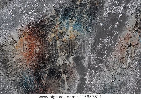Abstract Textured Background - Grungy Metal Close Up