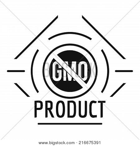 Gmo stop logo. Simple illustration of gmo stop vector logo for web