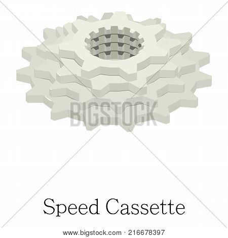 Speed cassette icon. Isometric illustration of speed cassette vector icon for web