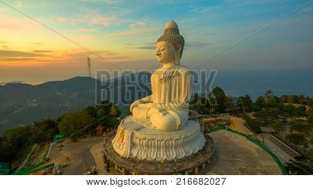 Phuket big Buddha in the morning Phuket Big Buddha is one of the island most important and revered landmarks on the island.