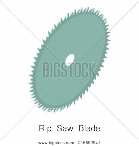 Rip saw blade icon. Isometric illustration of rip saw blade vector icon for web