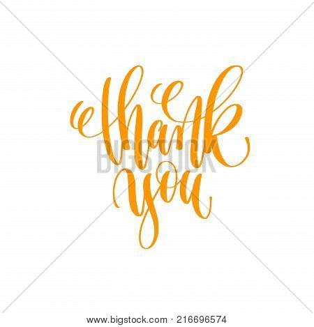 Thank You - Hand Lettering Vector & Photo | Bigstock
