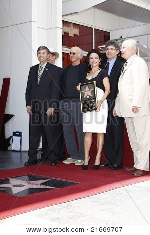 LOS ANGELES - MAY 4: Leron Gubler, Larry David, Julia Louis-Dreyfus, Alan Horn as Julia Louis-Dreyfus is honored with the 2407th star on the Hollywood Walk of Fame in Los Angeles, CA on May 4, 2010