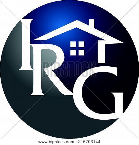 Real Estate Solution Letter I R G Logo Design Template Vector