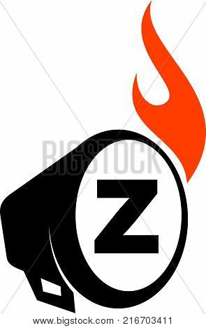 Voice of Freedom Letter Z  Logo Design Template Vector