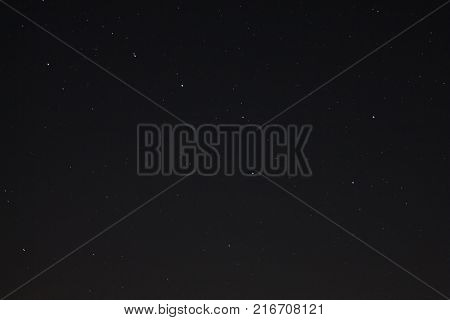Starry dark sky with stars and the constellation Ursa Major