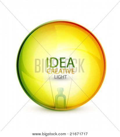 Transparent light bulb sphere background