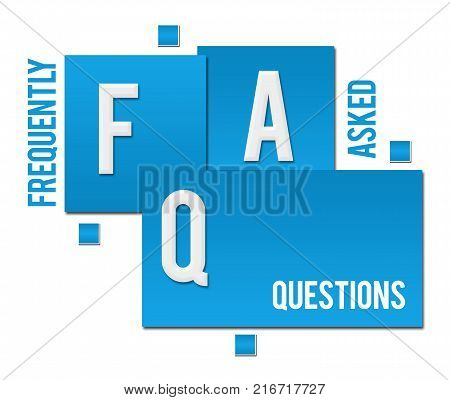Frequently Asked Questions text written over blue background.