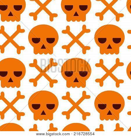 Danger Warning Vector Skull And Bones Background