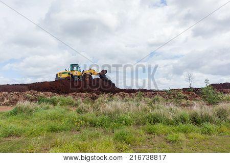 Industrial Earthworks Construction Grader
