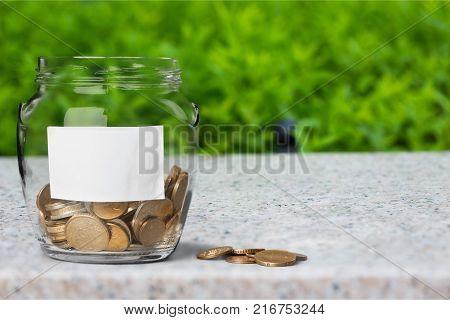 Money jar coins jar isolated jar coins jar money jar of coins