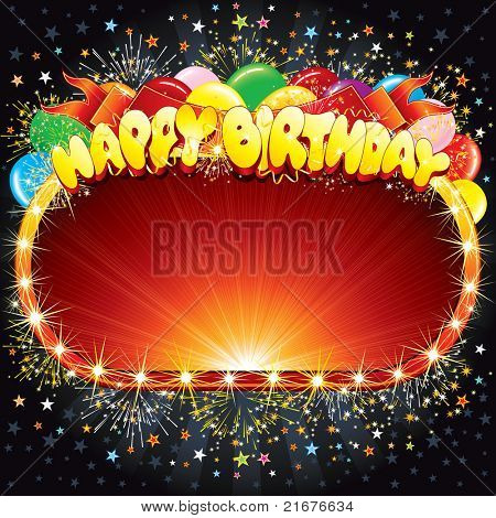 Happy Birthday Vector Background for your Congratulations