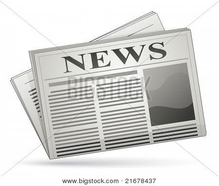 Newspaper icon. Raster version