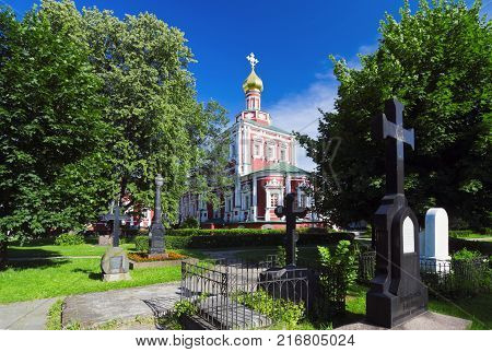 Assumption Church Novodevichy Convent. Russia. Moscow.equipment concept