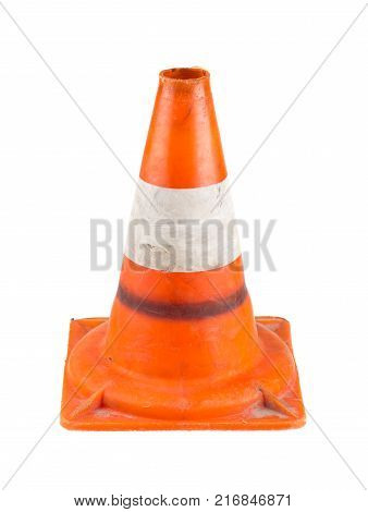 Road traffic cone isolated on a white background