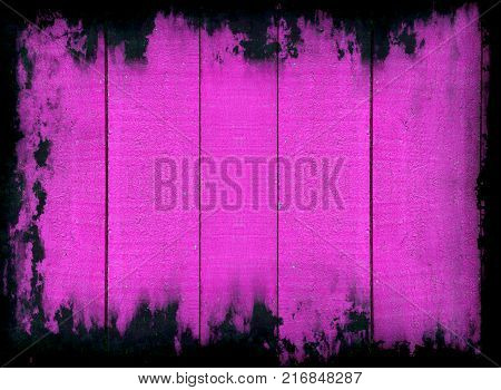 Grunge pink abstract background with black frame border.Digitally altered image.