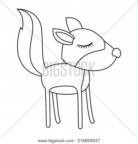 Female Wolf Cartoon Vector Photo Free Trial Bigstock