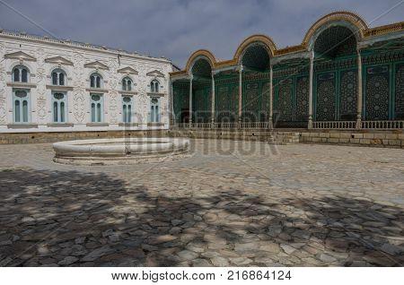 Courtyard Of Sitorai Mokhi-khosa Palace With Fountain, Bukhara, Uzbekistan